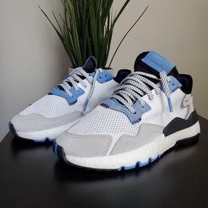 Blue, White, Grey and Black Adidas Nite Joggers